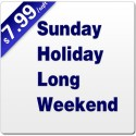 Sunday, Holiday and Long Weekend Service